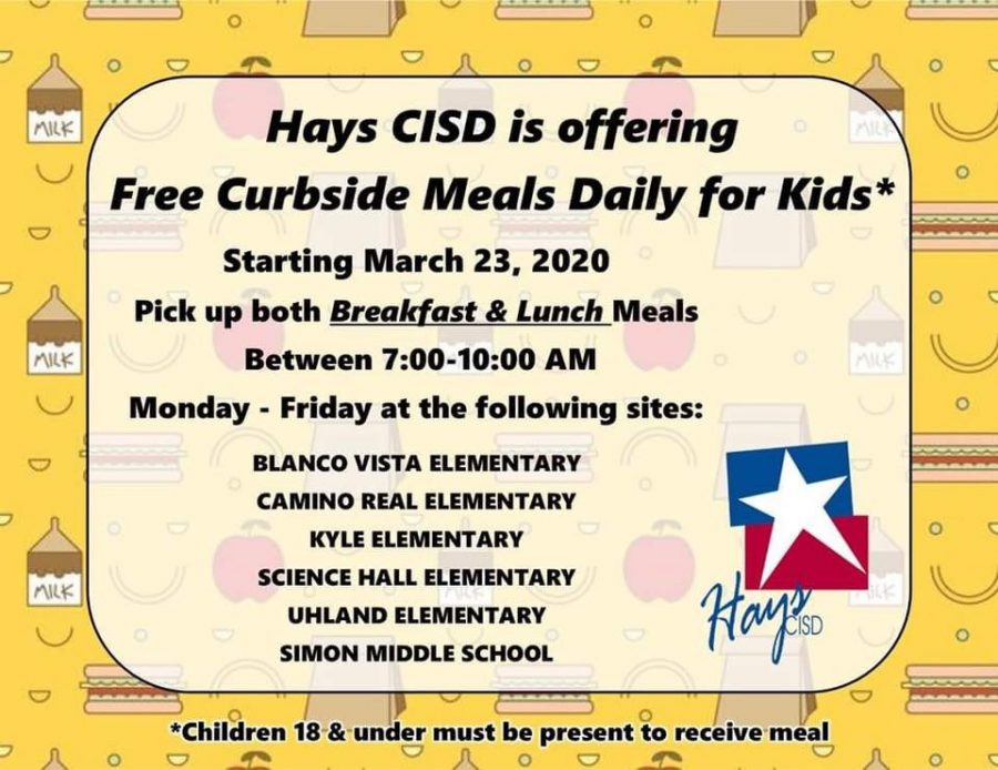 Hays CISD set to begin curbside meal service