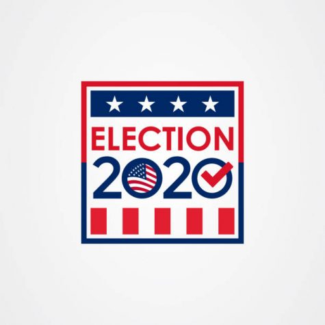 2020 United States of America presidential election vote banner.