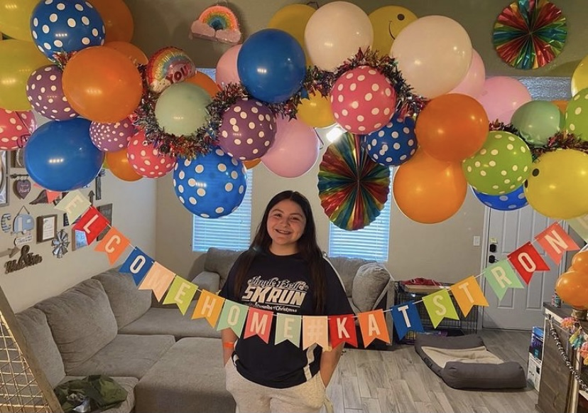 Sophomore Katelynn Ramirez was discharged from Dell Children's Hospital on Jan. 8 and will continue recovery from home. Her GoFundMe raised over $5,000 which will go toward helping her family.  Photo from HHS cheerleading Instagram