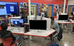 In-person learners work on projects in Donald Davis' class.