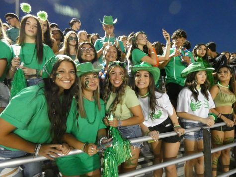 Students wore green in support of Cloe Munoz.